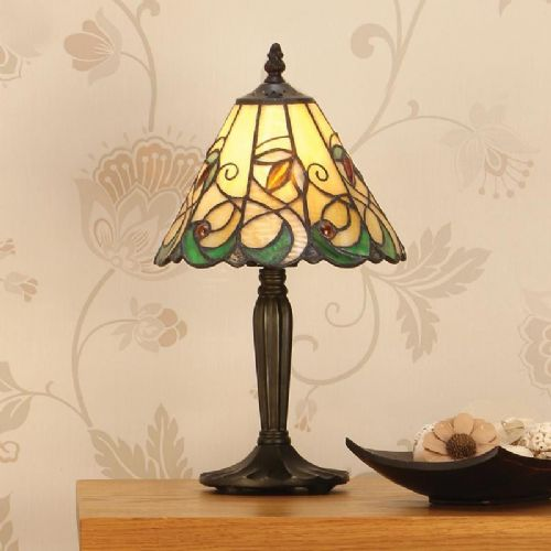 Jamelia Small Table Lamp (Art Nouveau, Small Table Lamp) T095TS (Tiffany style)
